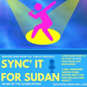 Join us for the show of a lifetime- Sync' it for Sudan