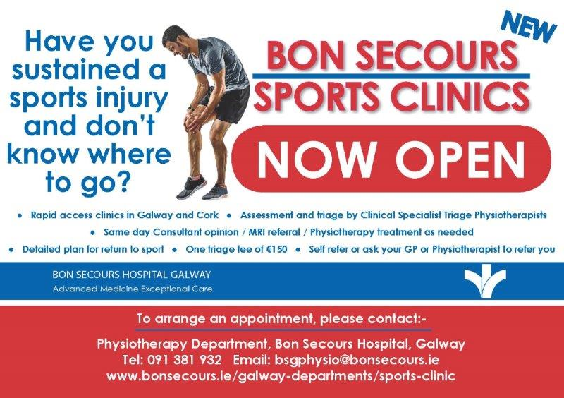Bon Secours Sports Clinic Galway