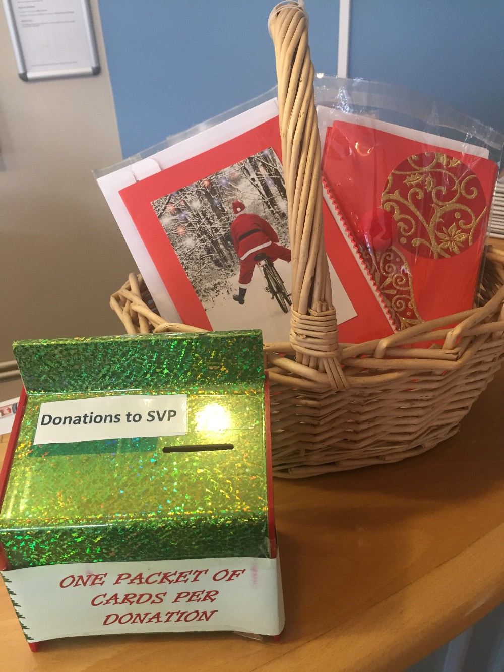 SVP Residents hand made Christmas cards