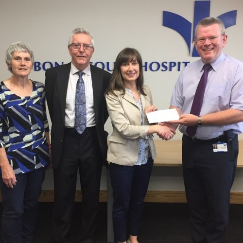 Owen McCarthy, Mission Lead, presents €2000 Community Initiative Funding to Aspect, a support service developed specifically for adults with Asperger Syndrome/ High Functioning Autism