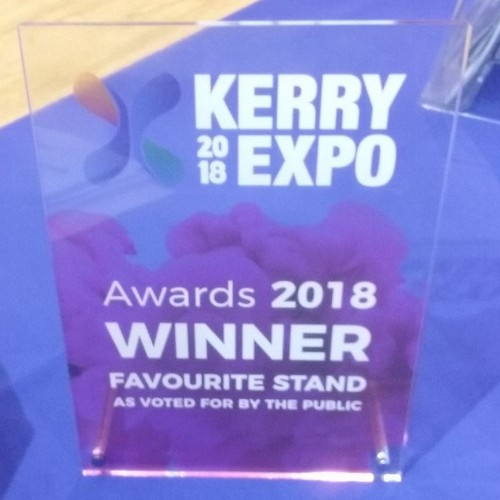 Bon Secours Hospital Tralee wins 'Favourite Stand as voted for by the public' at the Kerry Expo 2018.