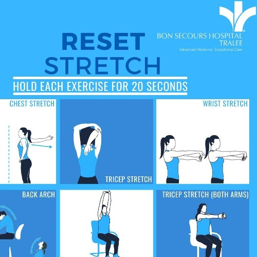 Stretches To Reset And Recharge For Everyone Working And Physical Distancing At Home.