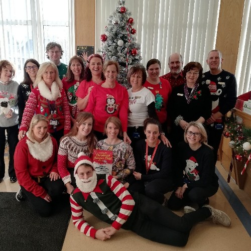 Staff of Bon Secours Hospital Tralee participate in Radio Kerry's Christmas Jumper Day 2018!