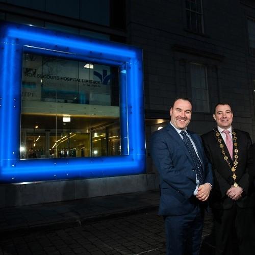 New entrance and reception at Bon Secours Hospital Limerick at Barringtons