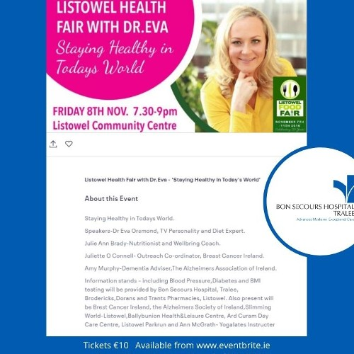 Bon Secours Hospital Tralee to feature in the 25th Annual Listowel Food Fair!