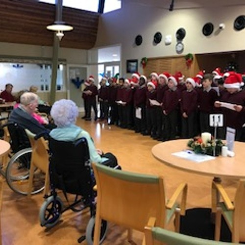 St. Columba's Boys School Singing for our Residents