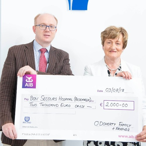 Donation to Cancer Research in Bon Secours Cork